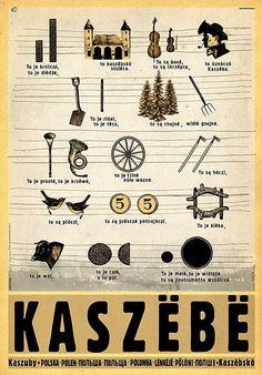 Kaszuby, plakat z serii Polska, Ryszard Kaja