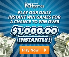 chances of winning pch instant win games