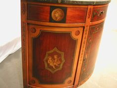 PAINT DECORATED ADAMS STYLE COMMODE