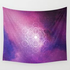 Peaceful Ascension - Purple Variant Wall Tapestry Tapestries, Wall Tapestry, Tapestry, Upholstery, Wall Rugs