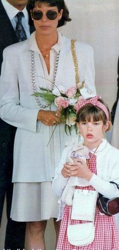 Princess Carolina of Mónaco and her daughter, Charlotte Casiraghi.