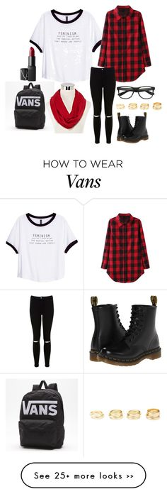 """School"" by rossella-giannuzzi on Polyvore featuring H&M, Miss Selfridge, Dr. Martens, Charlotte Russe, NARS Cosmetics and Spectrum"