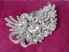 wedding hair comb swarovski hair comb by nefertitijewelry2009, $48.00