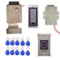 Diysecur Waterproof Rfid Reader Access Control Full Kit Set Electric Strike Door Lock Power Supply Brand New