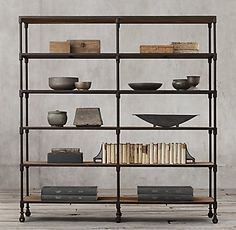 Dutch Industrial Double Shelving