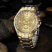Men's+Gold+Round+Dial+Alloy+Band+Quartz+Analog+Wrist+Watch+Cool+Watch+Unique+Watch+Fashion+Watch+–+GBP+£+6.42