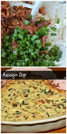 Print Hot Asiago Bacon Dip Ingredients 8 slices center cut bacon, cooked and chopped 8 ounces softened cream cheese ½ cup mayonnaise Appetizer Dips, Best Appetizers, Appetizer Recipes, Dip Recipes, Cooking Recipes, Yummy Recipes, Bacon Dip, Football Food, Casserole Dishes