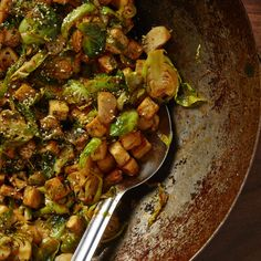 Korean Tofu & Brussels Sprout Stir-fry