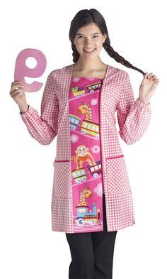 BA9405 TREN ROSA - EL DIDAL BY JOTI Blouse Nylon, Preschool Education, Medical Scrubs, Teacher Style, Nylons, Abaya Fashion, The Dreamers, Apron, Couture