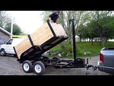 Home made dump trailer - YouTube