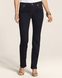 So Lifting By Chico's Rinsed Indigo Slim-Leg Jean - SH #chicos #thebestjeans