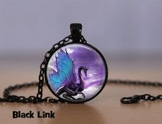 Ala azul Dragon dragón colgante collar o llavero dragón dragón