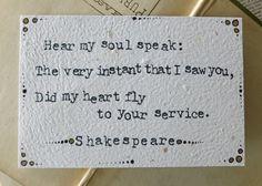 Alexandre Dumas Shakespeare  Love Notes  by ThreeSummerDaysShop, $20.00