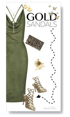 """Micro Trend: Solid Gold Sandals"" by grachy ❤ liked on Polyvore featuring Rare London, Office, Clare V., Wouters & Hendrix Gold, Evelyn Knight, goldsandals and contestentry"