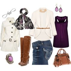 Jeans and a Blazer (Purple), created by jill-hammel