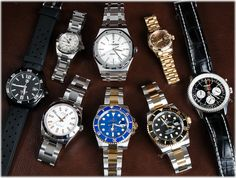 8 new watches posted: including a 41mm Royal Oak, pair of 18/SS Submariners, and a very unique ladies President.