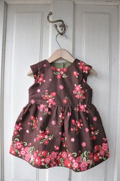 Hey, I found this really awesome Etsy listing at https://www.etsy.com/listing/270458774/toddler-dress-brown-and-pink-floral-baby