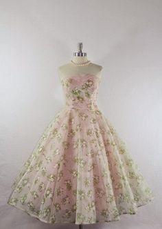 1950's Chiffon and Tulle Dress