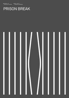 Prison Break - Minimalist Poster Series of Popular TV Shows Minimalist Poster Design, Minimal Poster, Minimal Design, Minimalist Art, Ui Design, Print Design, Prison Break, Series Poster, Tv Series