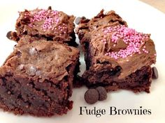 Perfect Fudge Brownies  With Chocolate Frosting Recipe - So easy to make and very delicious!