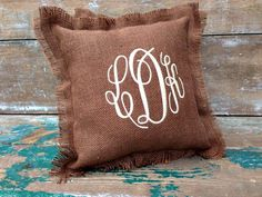 Hey, I found this really awesome Etsy listing at https://www.etsy.com/listing/158348964/circle-monogram-burlap-pillow