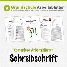 Kostenlose Arbeitsblätter und Unterrichtsmaterial für den Deutsch-Unterricht zum Thema Schreibschrift in der Grundschule.