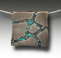 Hadar Jacobson: Chips inlay in metal clay