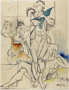 Study for The Blue Bird, 1913, by Jean Metzinger (1883-1956)
