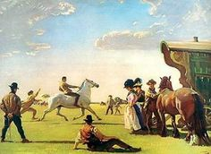 Gypsy Life by Munnings  I saw almost exactly this scene at Barsham Horse Fair in the 1970s!