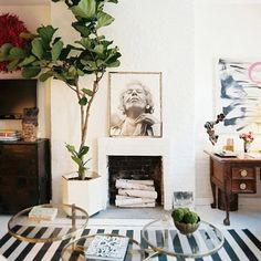 #stripes #decor | More stripes, polka dots and pom poms here: http://mylusciouslife.com/colour-textiles-stripes-polka-dots-pom-poms/