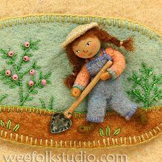salley mavor - girl in the garden - felt