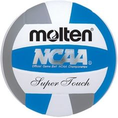 Molten Super Touch Volleyball Official Volleyball of the NCAA Women's Championships Official Size and Weight, NFHS Approved Premium Japanese Leather Cover Uni-Bladder Cotton Wrapped Construction Indoor Use, Year Warranty Volleyball Gear, Beach Volleyball, Volleyball Equipment, Softball, High School Programs, Scholarships For College, Ncaa College, National Championship, Volleyball