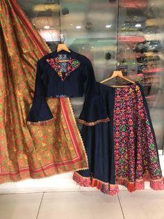 The Amy Collections - offering Stitched Garba Designer Navratri Chaniya Choli at Rs in Ahmedabad, Gujarat. Garba Dress, Navratri Dress, Choli Dress, Chaniya Choli For Navratri, Choli Designs, Saree Blouse Designs, Churidar, Anarkali, Lehenga Choli
