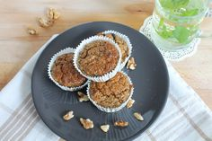 Lekkere havermout muffins. Zonder toegevoegde suiker, boter, olie, of tarwe. Gezond dus! Geschikt voor De Voedselzandloper.