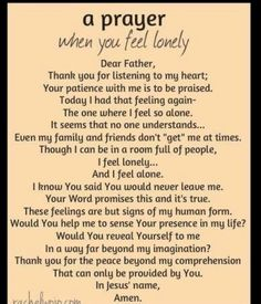 Prayer for Lonliness