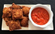 All the awesomeness of spinach artichoke dip in homemade fried ravioli