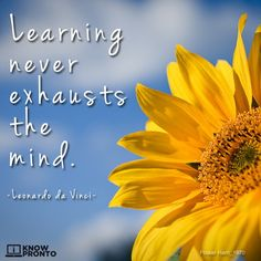 Learning never exhausts the mind. -Leonardo da Vinci #Quote #Quotes