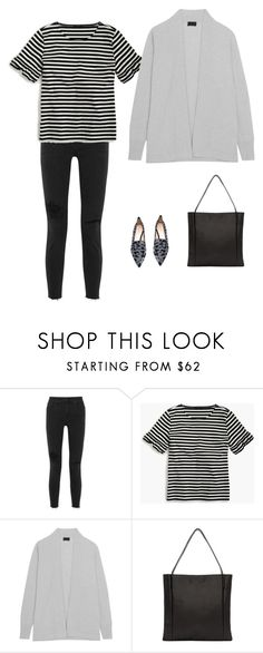 """""""Untitled #2720"""" by yuenchewwan ❤ liked on Polyvore featuring Madewell, J.Crew, Chiyome and Nicholas Kirkwood"""