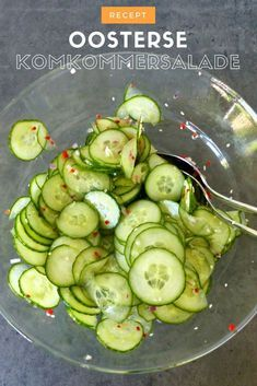 Recept   Oosterse komkommer salade
