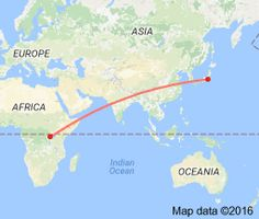 how long KM from Tokyo to Kigali - Google Search