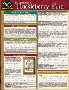 character analysis the adventures of huckleberry The adventures of huckleberry finn: character profiles, free study guides and book notes including comprehensive chapter analysis, complete summary analysis, author.