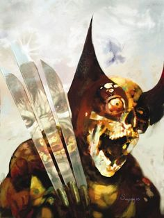 """Super heroes as zombies. The series """"Marvel Zombies"""" by Arthur Suydam."""