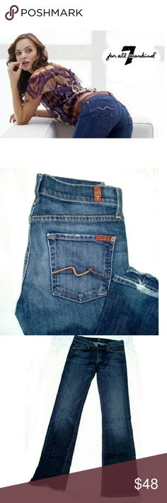"""🎈LABOR DAY SALE🎈7 FOR ALL MANKIND BOOTCUT JEANS 7 FOR ALL MANKIND BOOTCUT JEANS Pre-Loved / Pic for Similarity  Style U075080U-080U BOOTCUT STYLE FRAYING ON BACK BOTTOMS (see pics) 5 POCKET JEANS SZ 27 APPROX MEAS;  *.  Inseam 32"""" Rise 7 1/2"""" Leg  Opening 8"""" 7 For All Mankind Jeans Boot Cut"""