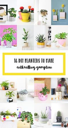 16 diy planters to make this spring