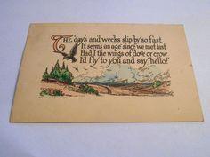 Vintage Postcard Greeting 1912 USA Divided Back Holiday Print Shop    4297 #Friendship
