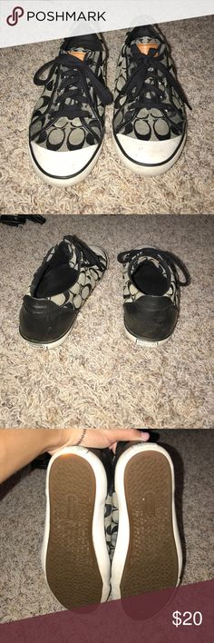 Coach sneakers super cute Not worn much, size 9 good condition! Coach Shoes Sneakers