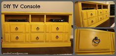 DIY: Dresser turned TV Console!  So much for getting rid of that old dresser.