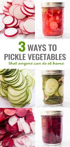 How to make pickled vegetables at home -- 3 FLAVOR OPTIONS!