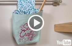Free video with instructions on how to add embroidery to your sewing room.