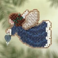 angels cross stitch | Amazon.com - Indigo Angel - Cross Stitch Kit